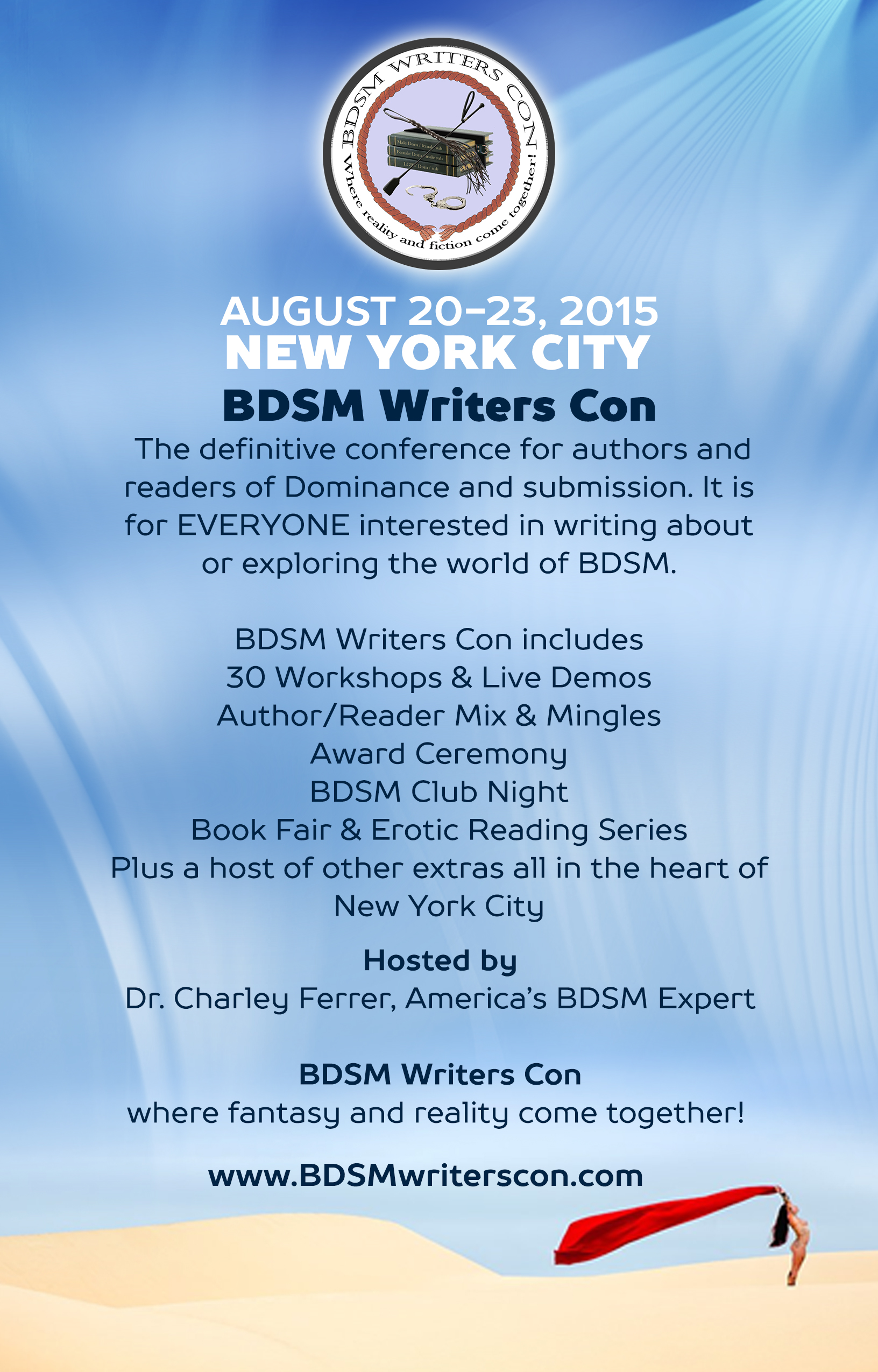 Join us for BDSM WRITERS CON August 20-23, 2015 in New York City